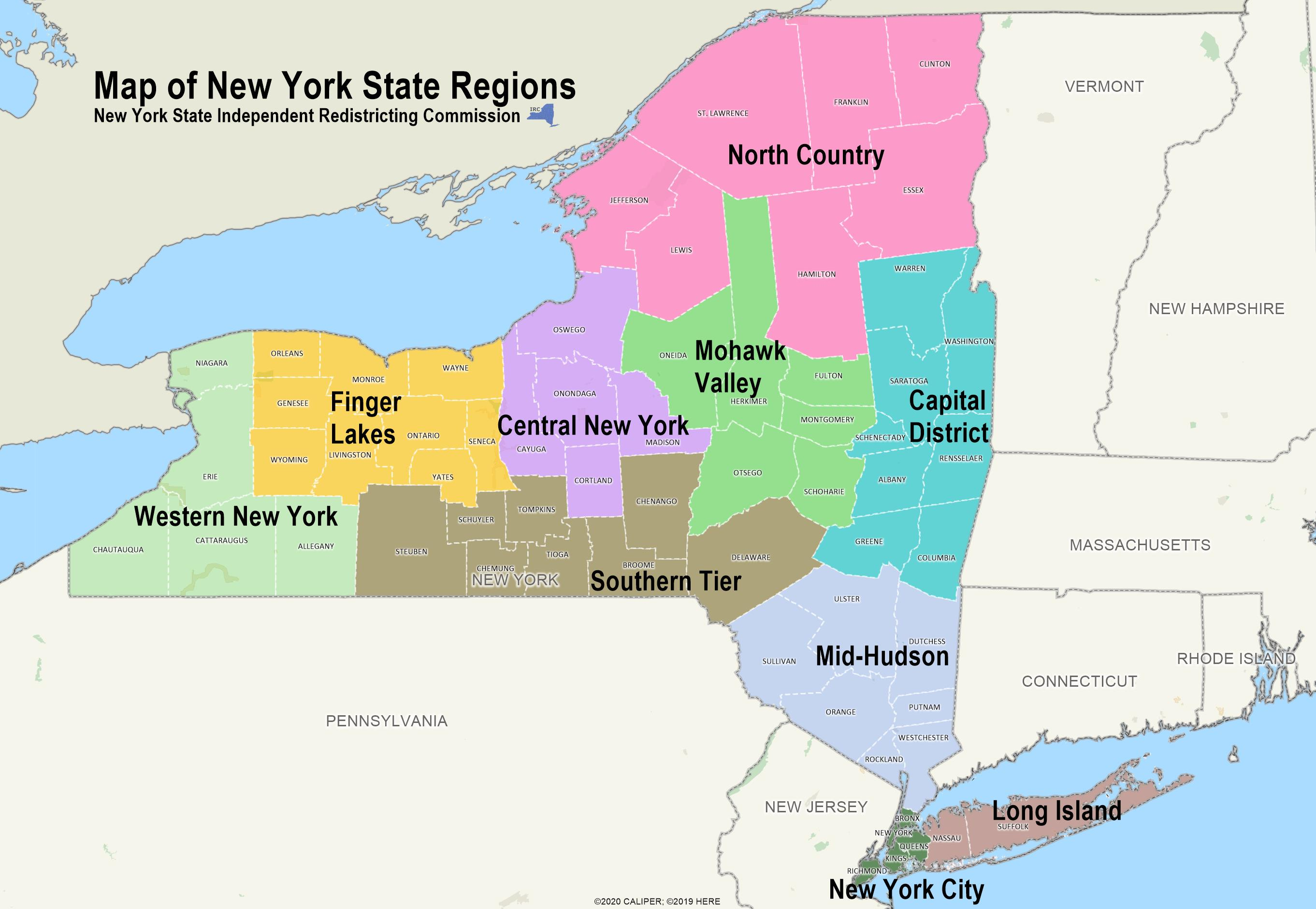 Regional Map of New York State